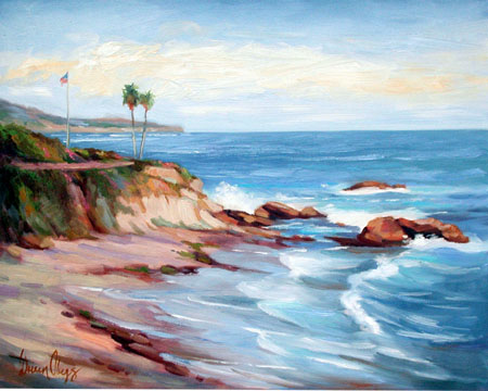 Sunlit Cliffs Laguna Beach